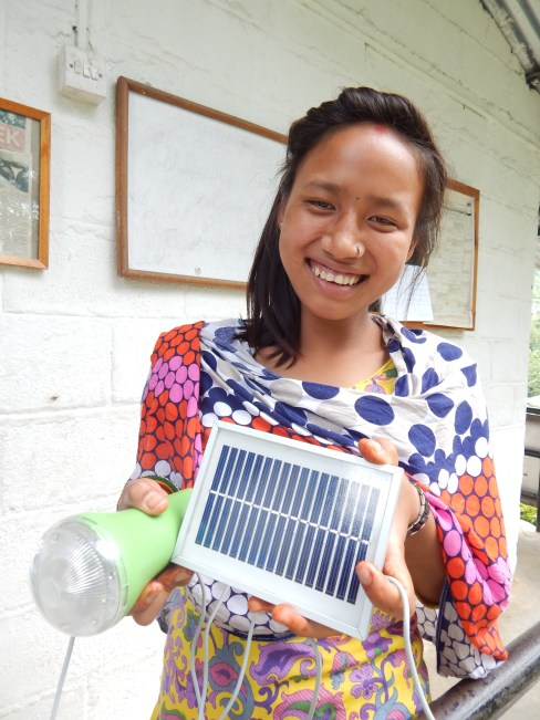 receiving solar lamp by manisha with dazzling face. (2)