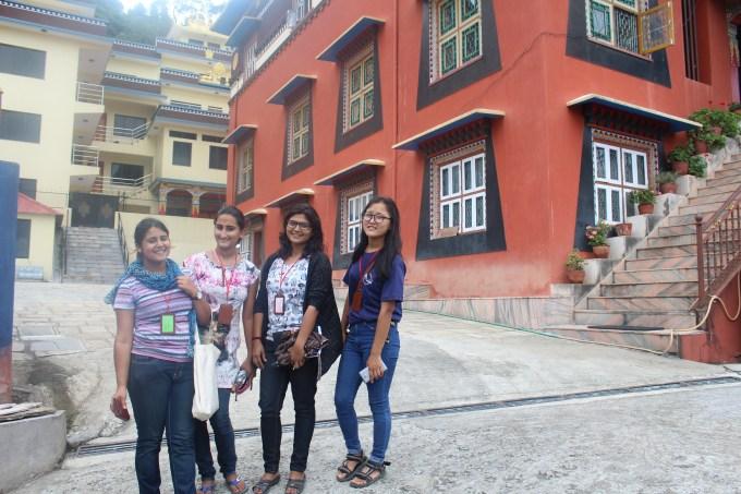 From left Prabritti, Shraddha, Prakriti, Ekata( mentors). Manisha , Bandana missing