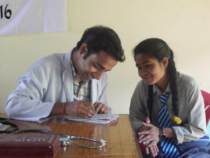 Asmita Mangrati, our new scholar meets the Doctor