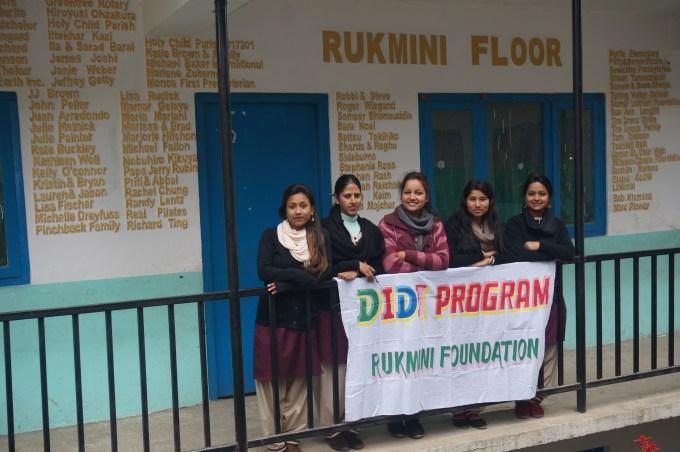 Didi Team with Didi Banner at Rukmini Floor