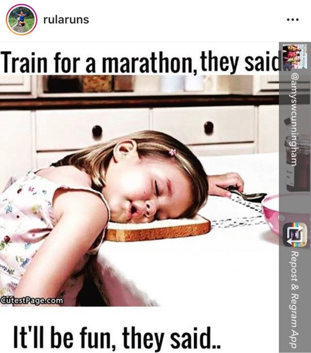 Cartoon - Train for a marathon they said, it'll be fun they said...