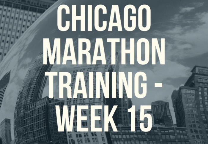 Chicago Marathon Training – Week 15