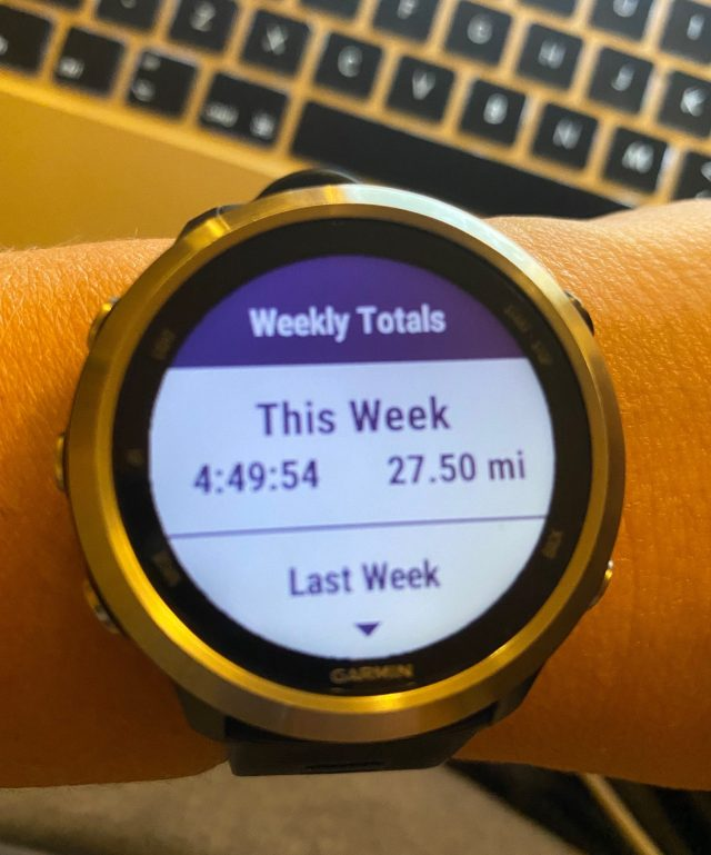 Manchester Marathon Week 4 - weekly total