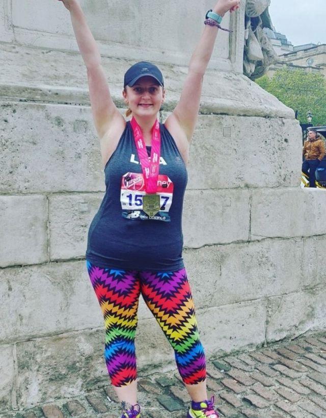 Lisa Townsend London Marathon Finish