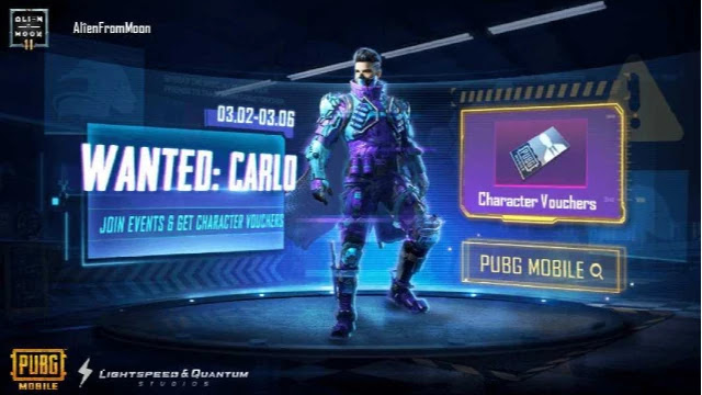 Carlo PUBG Mobile New Character