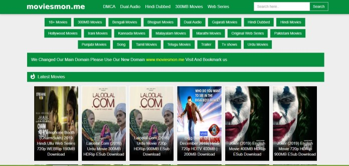 Moviesmon 2021: Download Pirated 300MB Free Bollywood and Hollywood Movies