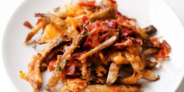 Smothered Portobello Mushroom Fries