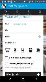 Toegankelijk plannen in de app uit