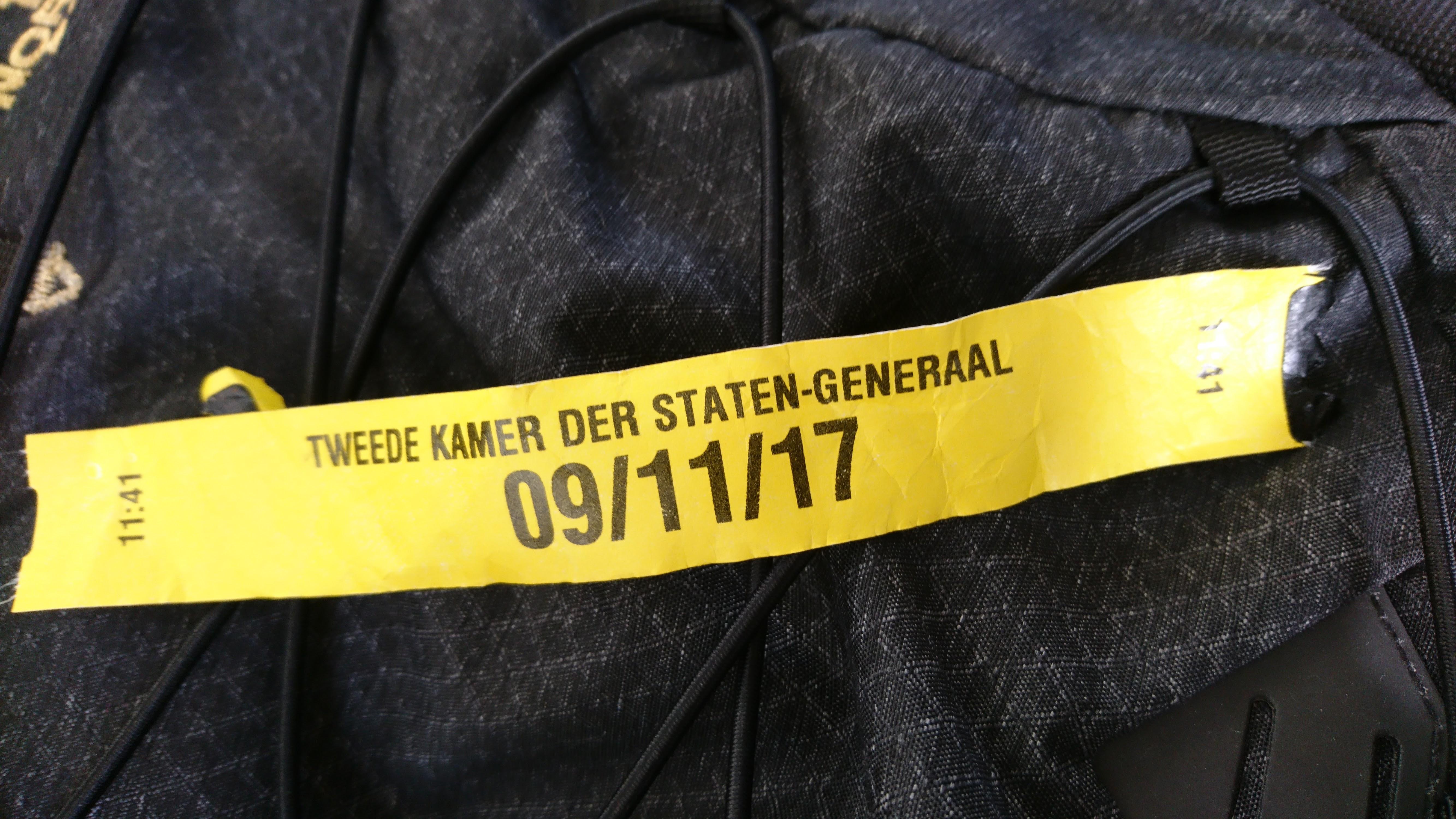 werk Het label van de beveiliging