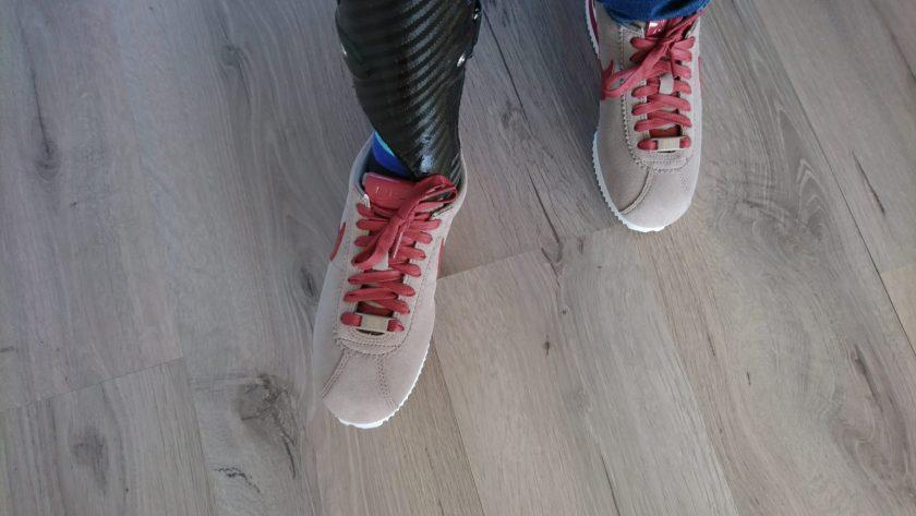 Mijn EVO in mijn nieuwe schoenen van Nike.