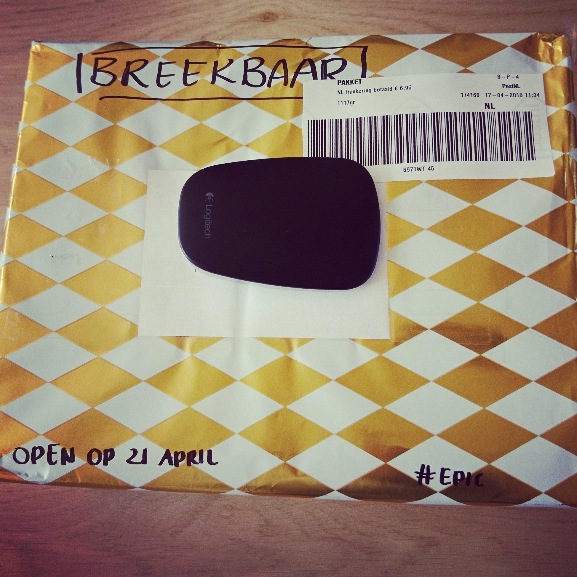 Mijn gekregen pakketje voor Echte Post Is Cool