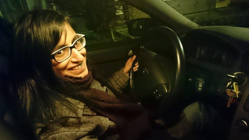 Rosita rijdt nooit auto