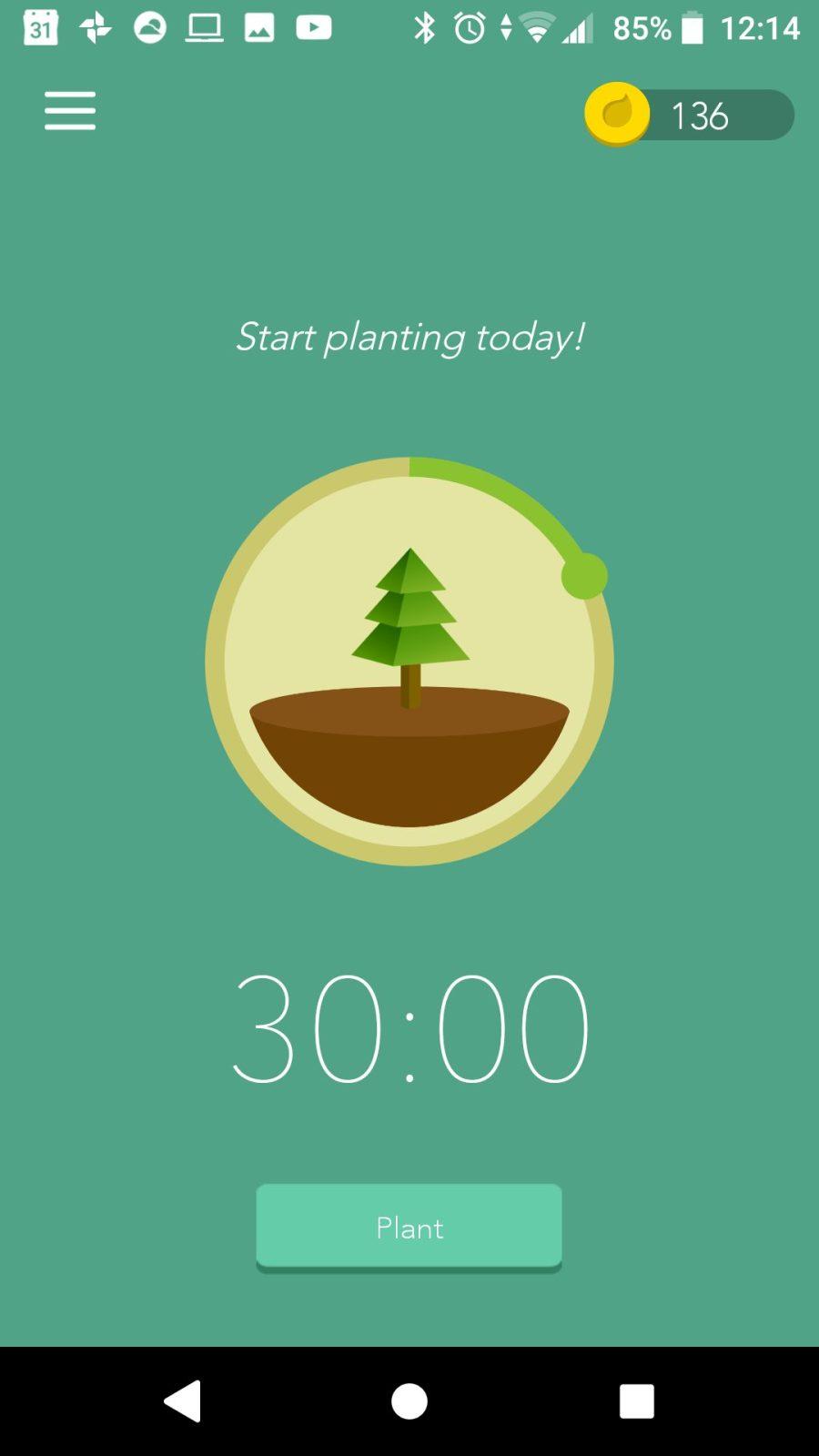 Beginscherm in de app