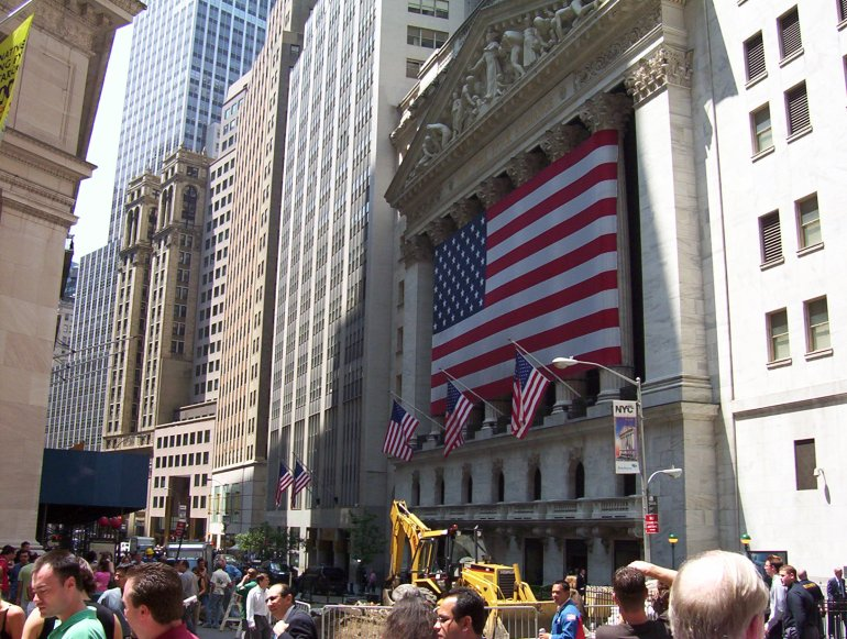Wallstreet, New York zomer