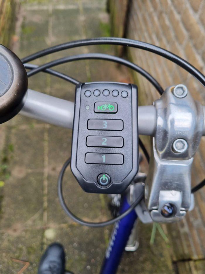 Foto van het display van mijn fiets gemaakt met de S21