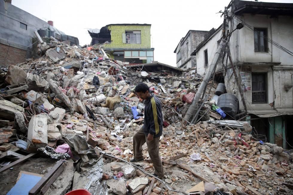 verwoesting in Nepal