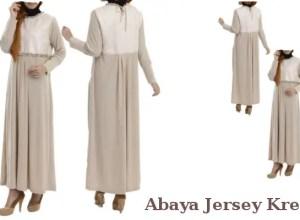 Busana Muslim Abaya Jersey Krem