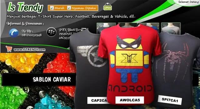 Istrendy - Jual T-shirt Superhero Murah Berkualitas