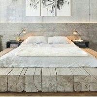 Tempat tidur pakai balok kayu biar alami?  Unik tempat tidur ini.  Menurut anda bagaimana? .  Jangan lupa like dan comment biar kami tau apa yang anda suka design apa