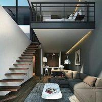 Tangga simple plafon minimalis