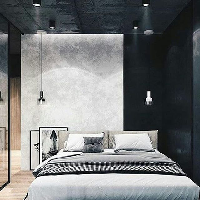 Bedroom Backwall simple industrial design