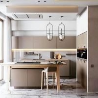 Pantry dapur yang terasa soft dan modern