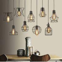Trend decor lampu industrial campuran  berbagai jenis design