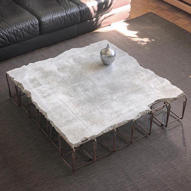 Coffee table industrial design Bisa juga besi coran dan semen dibuat menjadi meja yang unik
