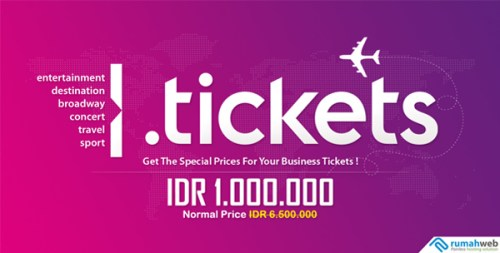Spesial Promo Domain .Tickets