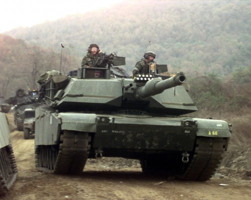 M1A1_Twin_Bridges_training_area_2C_Republic_of_Korea_1-23_Infantry