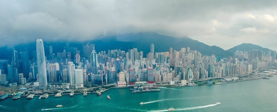 Victoria Harbor Hong Kong Skyline