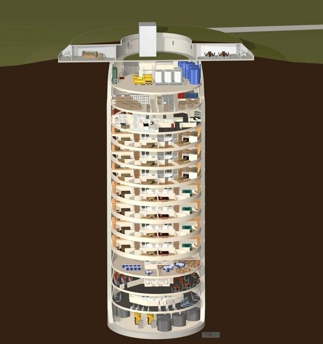 The Survival Condo is a 15-story building underground that can house up to 75 people.. (Photo: survivalcondo.com)