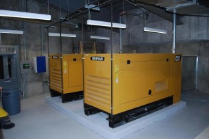 Diesel generators for back-up electric supply. (Photo: survivalcondo.com)