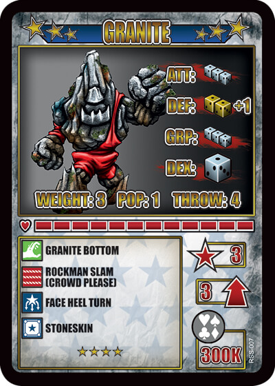 rumbleslam card granite