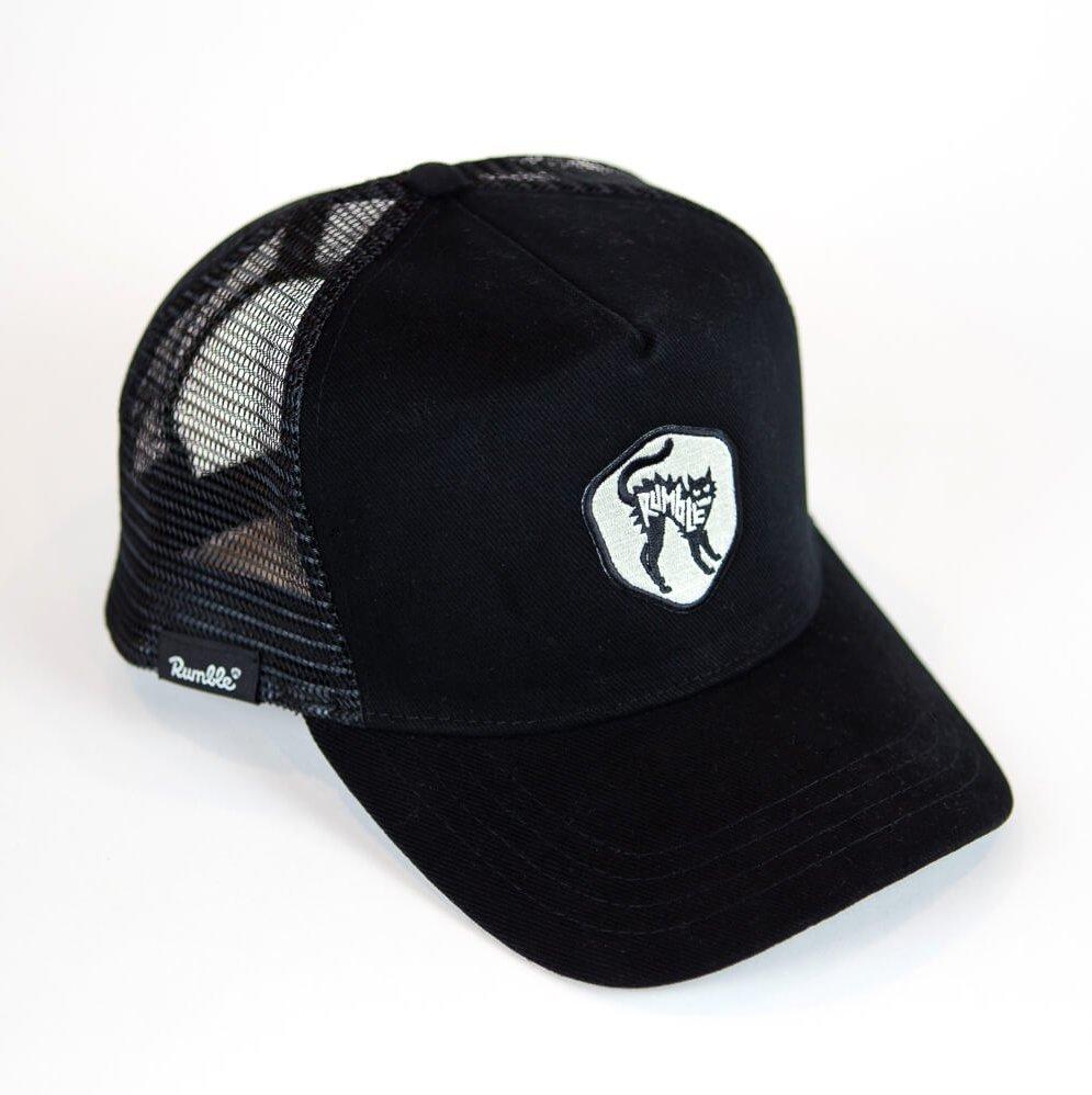 cap with rumble cat badge