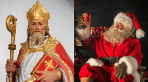 San Nicolas Vs Papa Noel en la navidad en Alemania