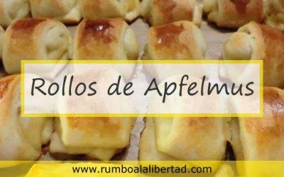 Rollos de Apfelmus un dulce sencillo y muy alemán