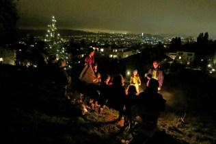 ... und die Lichtli vom Baum wurden zum ersten Mal angezündet