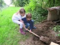 Bau des Kaninchenstalls