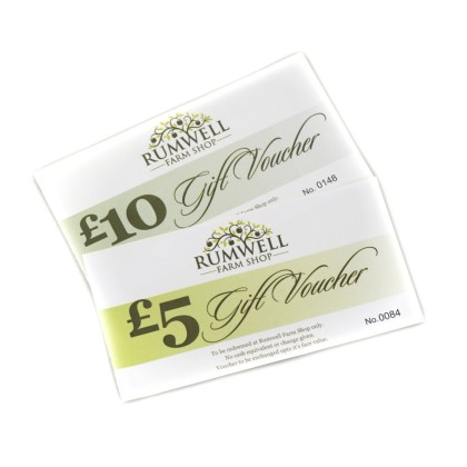 £5 and £10 gift vouchers 940 by 940