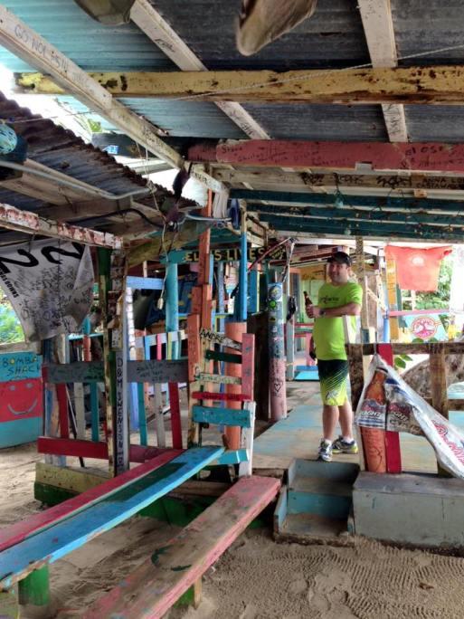 James in Bomba's Shack, Tortola, British Virgin Islands