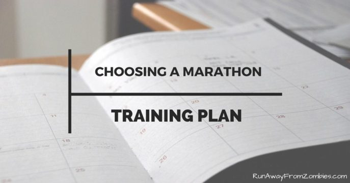 Choosing a marathon training plan