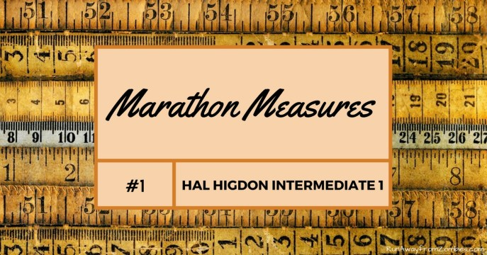 Training recap of the first 4 weeks (100 miles) of the Hal Higdon's Intermediate 1 Marathon training program. Marathon measures Hal Higdon Intermediate 1