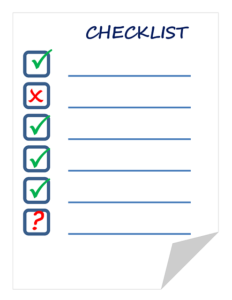 3 things every runner needs - checklist image