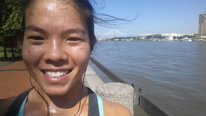 Starting Long Distance Running: River Street Selfie