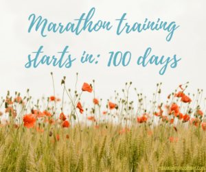 Marathon Training Starts in 100 days