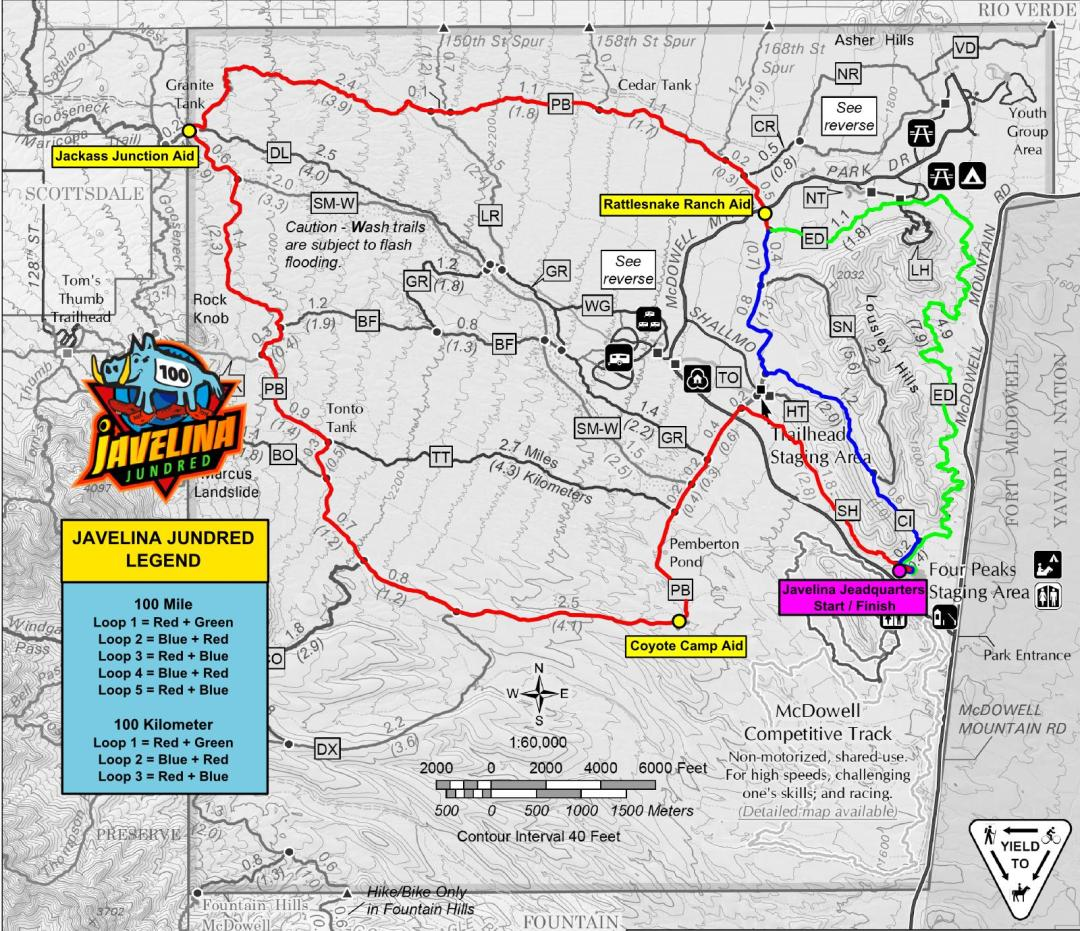 Javelina Jundred Course Map