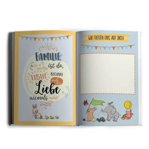 Hallo kleines Wunder - Babytagebuchbuch A4 Innenseite1