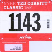 Finished in 1:08:46, pace 7:24 — at Central Park.