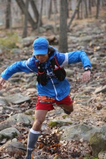 Whoopsy doopsy, me on the way to Silvermine Aid Station - photo by Ultra Race Photo